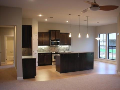 Dark Cherry Cabinets Kitchen