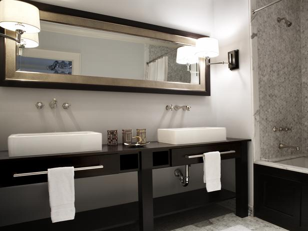 Double Vanity Marble Tile