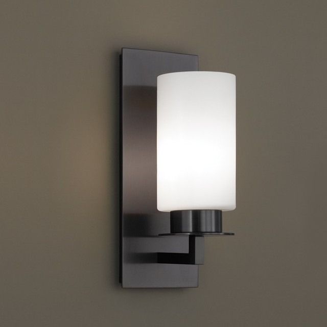 Jade Sconce With Matte Opal Glass