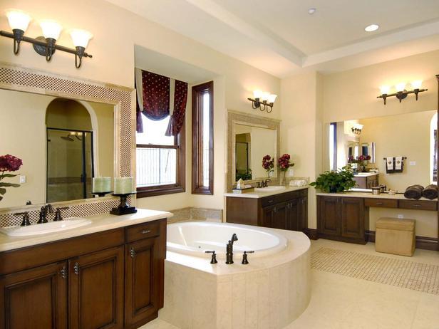 Rustic Style Master Bathroom