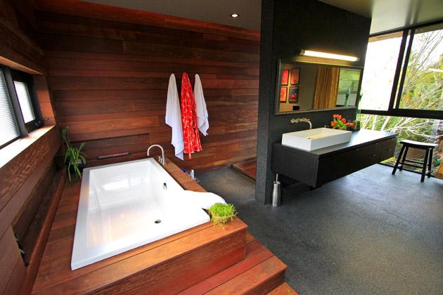 BATHROOM WITH BRAZILIAN CHERRY