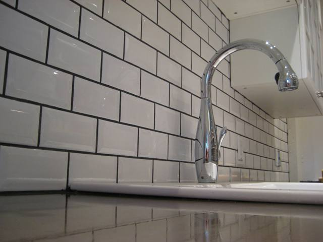 Backsplash Subway White Tile