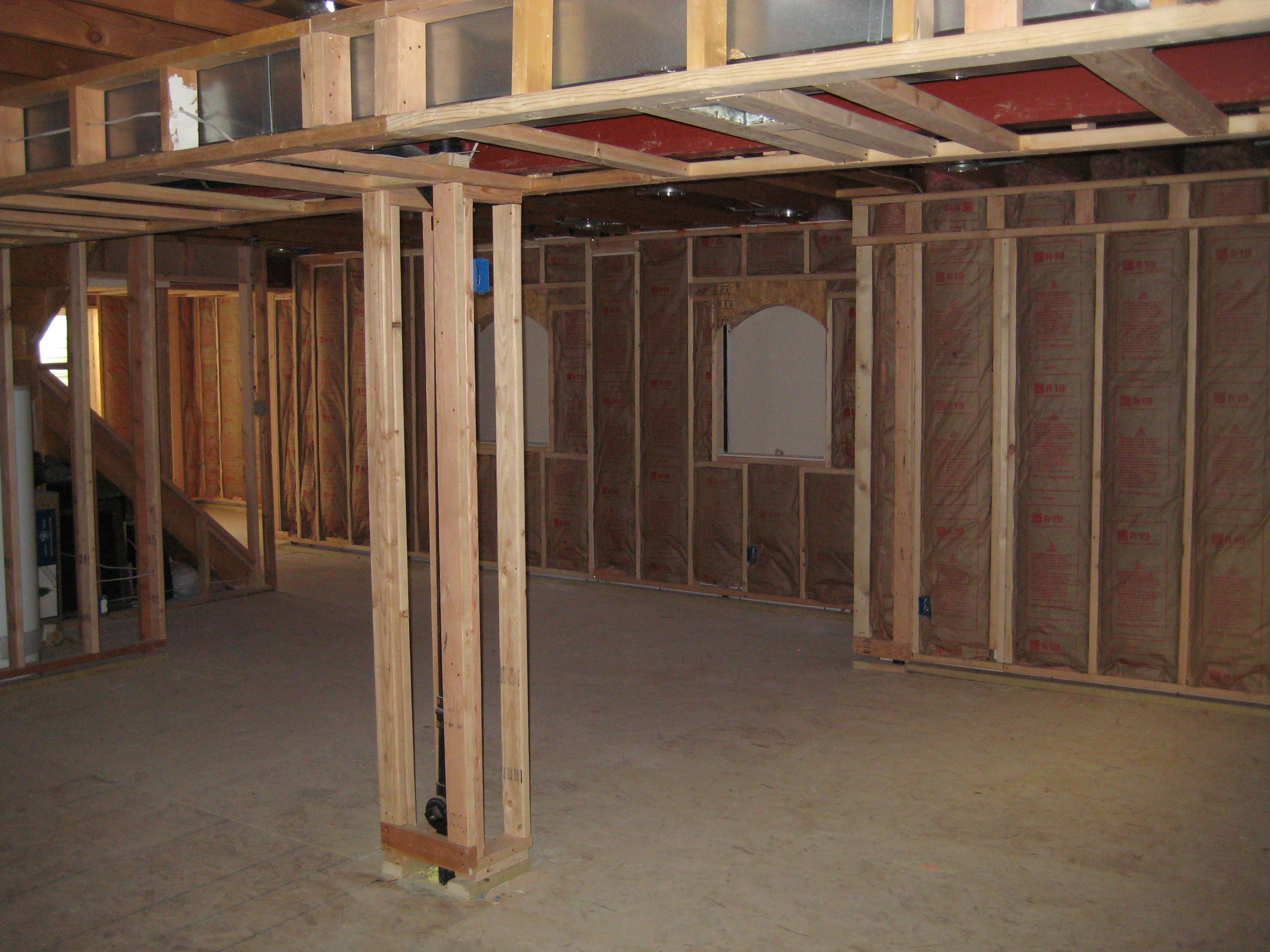 Basement Walls Insulation Installed