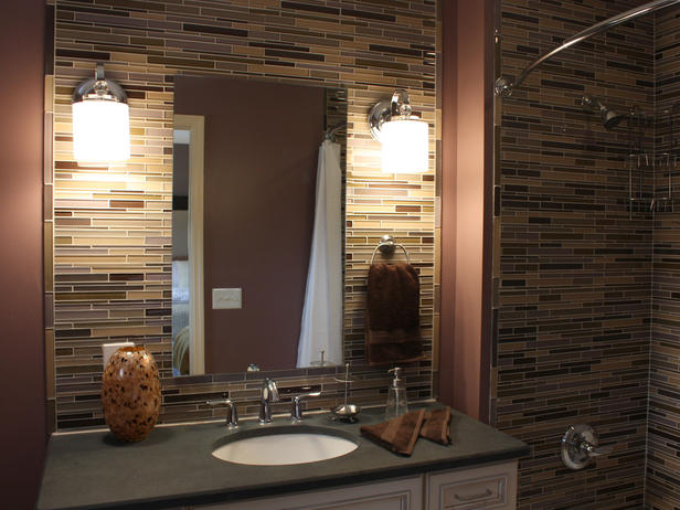 Bathroom Glass Horizontal Tile