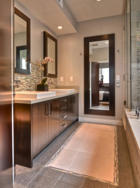 Cherry Vanity Cabinet.preview. The Cherry Wood Dominates This Bathroom ...