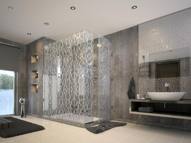 Contemporary Silver Shower