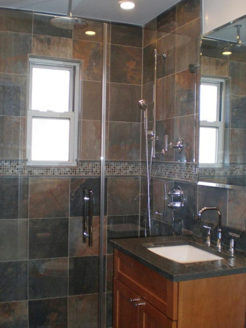 bathroom slate tile ideas home remodeling design kitchen amp bathroom design ideas 16051