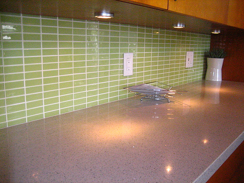 Orange Glass Subway Tile