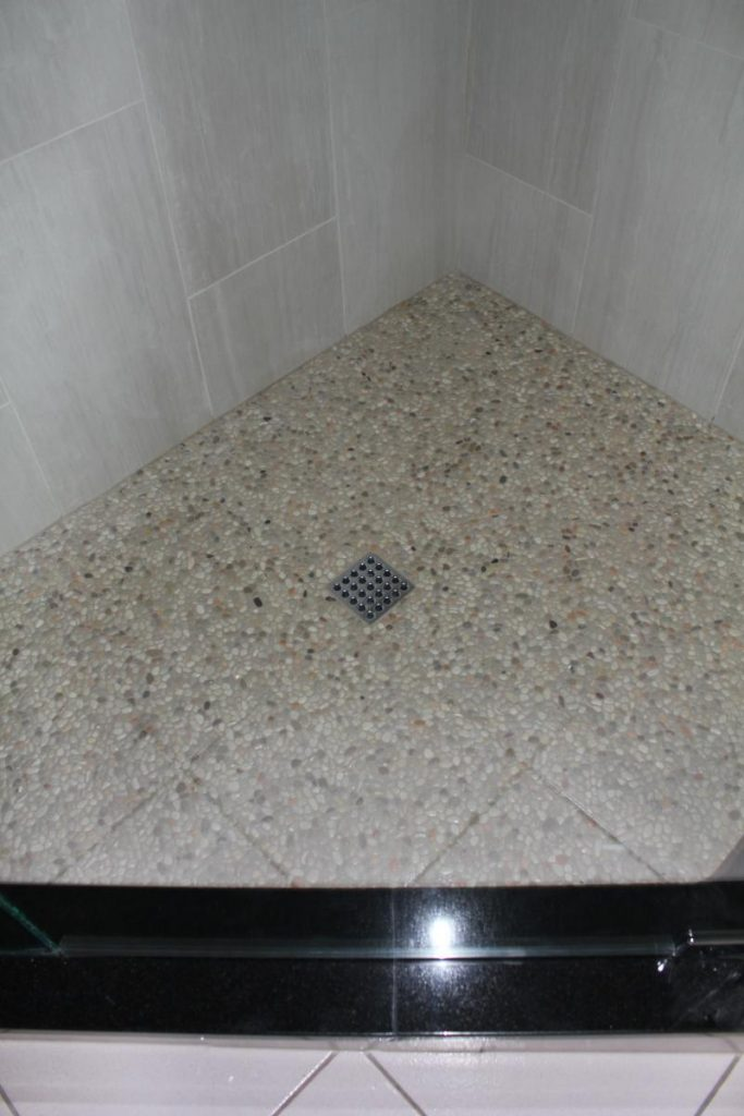 Shower floor grout