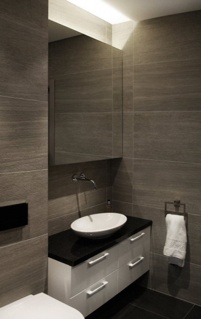 Contemporary Bathroom with Wall Vanity.preview