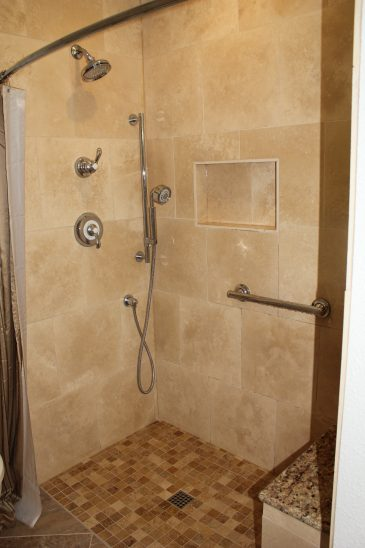 Tumbled Travertine Bathroom, Denver