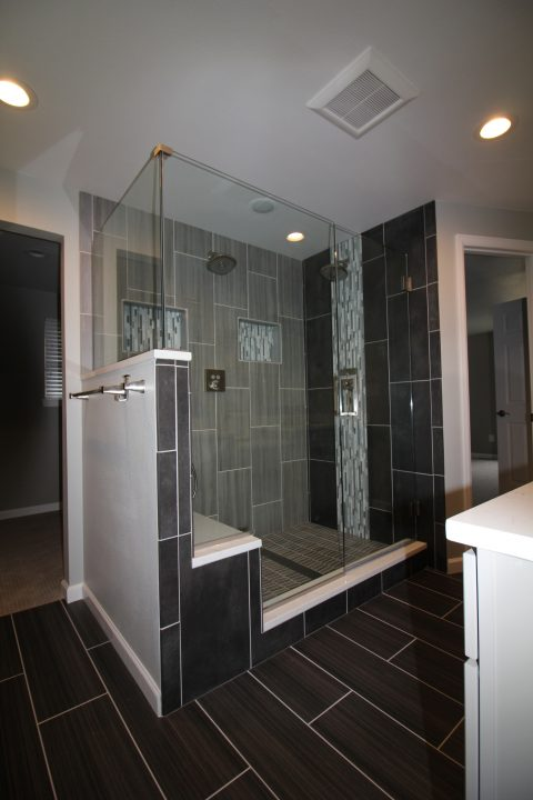 Dark Grey Master Bathroom