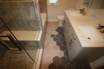 Grey Tone Master Bathroom